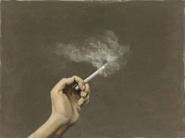 活着,抽烟 40x30  2009年_1_1