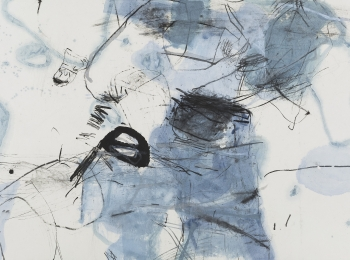 朱岚,风的使者,水墨,97X180cm,2016