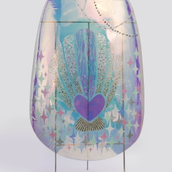 叶甫纳, 巨甲阵-珍珠贝, 综合材料, 105×205cm, 2016