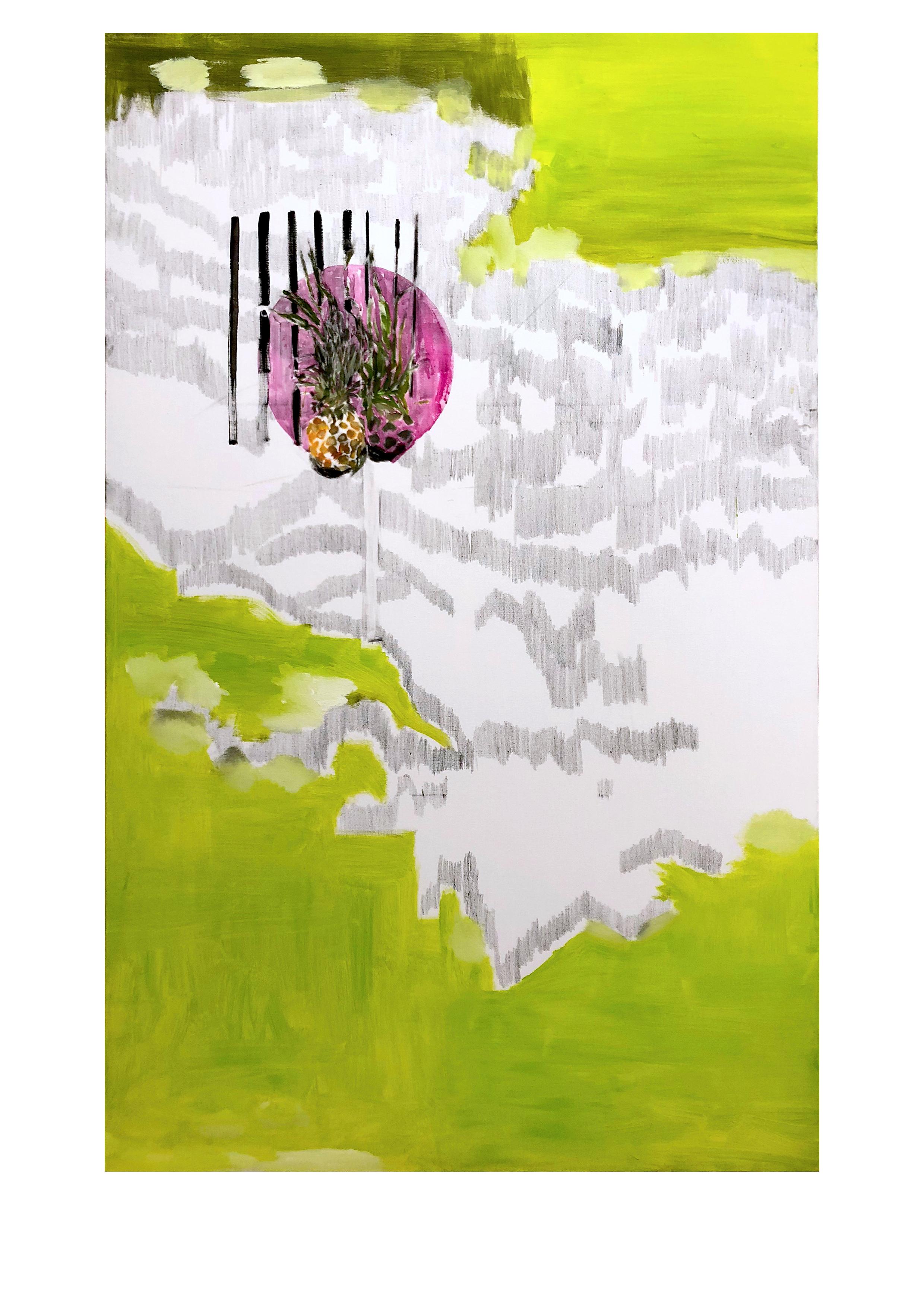 两个艺术家,综合材料,190x130cm,2018