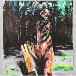 於菟女孩, 布面油画,100x100cm, 2016