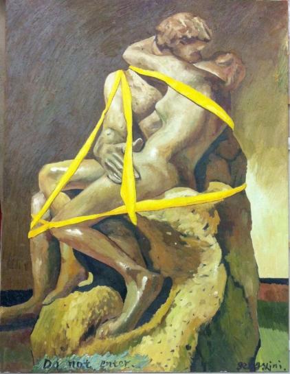 耿旖旎,纵欲场,布面油画,160x120cm,2013